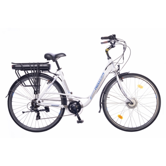 Neuzer E-Trekking Zagon Shengyi fehér/ezüst/kék Női Elektromos Trekking Kerékpár