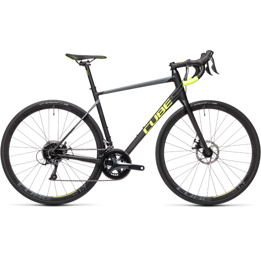 "CUBE ATTAIN PRO BLACK´N´FLASHYELLOW 28"" 2021"