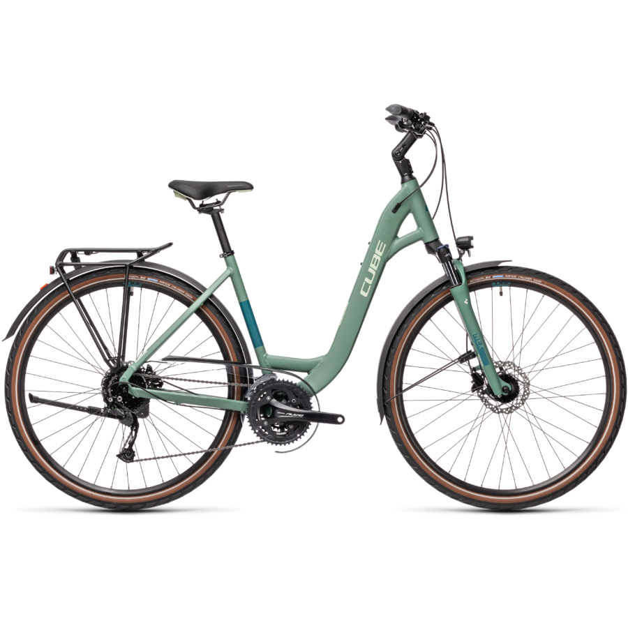 """CUBE TOURING EXC GREENBLUE´N´BLUEGREEN 28"""" EASY ENTRY 2021"""