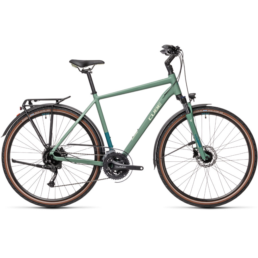 "CUBE TOURING EXC GREENBLUE´N´BLUEGREEN 28"" 2021"