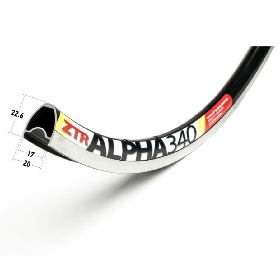 Abroncs Nutubes ZTR Alpha 340 32 lyuk 622 fekete